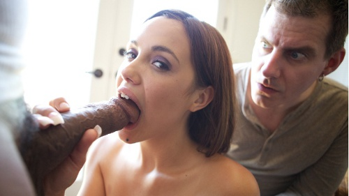 cuckolding wife sucking and husband watching
